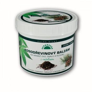 Kosodrevinový balzam s rašelinou a konope, 500 ml