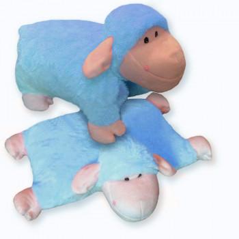 Rozkladací vankúš ovečka modrá