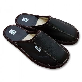 Luxusné papuče s ovčou vlnou pánske