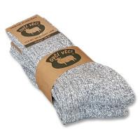 Ponožky z ovčej vlny 425g - sivé sada 2 ks