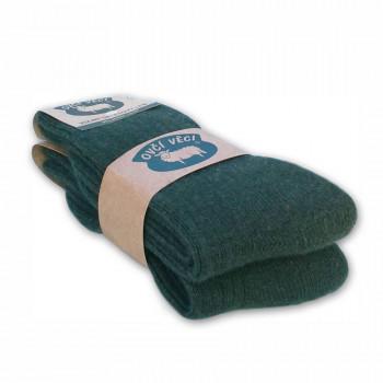 Ponožky z ovčej vlny zelené