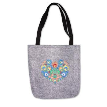 Filcová taška, suchý zips