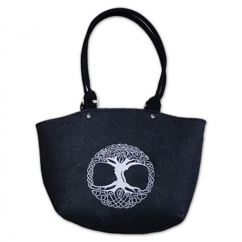 Filcová kabelka 178 čierna