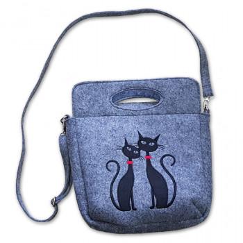 Filcová kabelka kufrík 0004