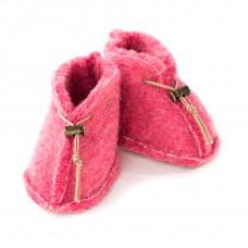 Detské vlnené capačky ružové