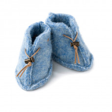 Detské vlnené capačky modré