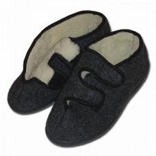 Papuče TATRANSKÉ s ovčou vlnou, nízké na such. zip