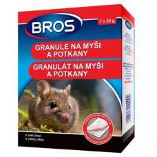Rodenticid BROS granule na myši a potkany 7 x 20 g