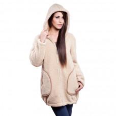 Kabát s kapucňou z ovčej vlny DOTI