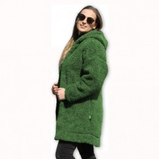 Kabát s kapucňou z ovčej vlny DIANA-39