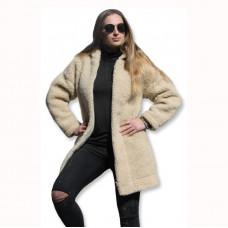 Kabát s kapucňou z ovčej vlny DIANA -3