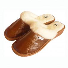 Papuče na kline biele HNEDÉ