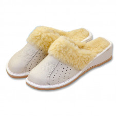 Papuče na kline BIELE
