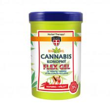 Konopný masážny Flex gél, hrejivý 380 ml