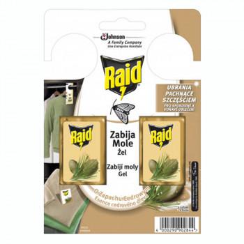 RAID háčik proti šatňovým moľom s vôňou cédra  2 ks