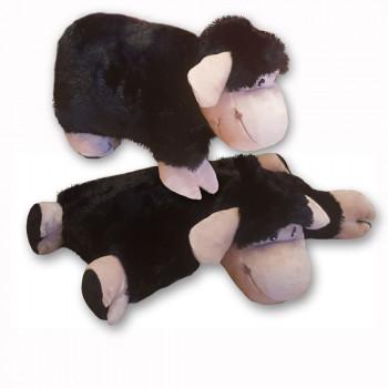 Rozkladací vankúš ovečka čierna