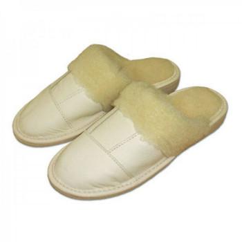 Dámske papuče s ovčou vlnou lux