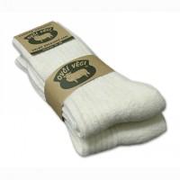 Ponožky z ovčej vlny 425g - biele sada 2ks