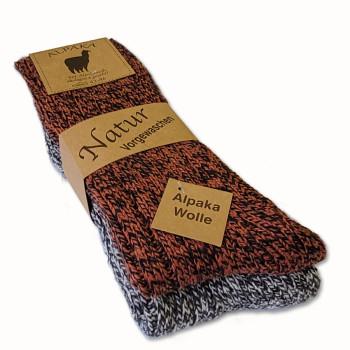 Vlnené ponožky Lama Alpaka - sada 2 ks
