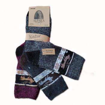 Vlnené ponožky Alpaka dámske - sada 3 ks