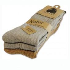 Vlnené ponožky Lama Alpaka pánske - sada 3 ks