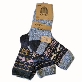 Vlnené ponožky Lama Alpaka - sada 3 ks