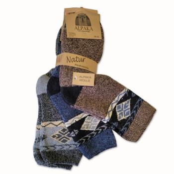 Vlnené ponožky Lama Alpaka 91110 - sada 3 ks