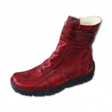 Dámske zimné topánky červené