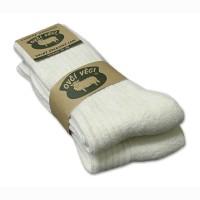 Ponožky z ovčej vlny 425g - biele sad 2ks