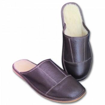 Kožené  papuče pánske lux