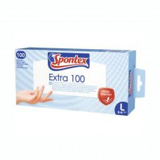 Spontex EXTRA pracovné rukavice vinylové biele -100 ks