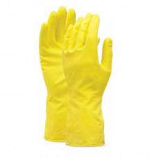 Upratovacie rukavice z prírodnej gumy Žlté