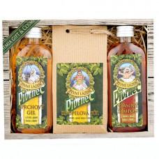 Darčeková sada Pivrnec - gél 100 ml, soľ 150 g a šampón 100 ml