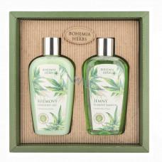 Darčeková kozmetická sada - gél 250 ml a šampón 250 ml - konope