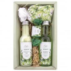 Darčeková kozmetická sada - sprchový gél 200 ml, vlasový šampón 200 ml, kúpeľová soľ 150 g a mydlo 30 g
