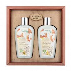 Darčeková sada Med a Kozí mléko sprchový gél 250 ml + šampon na vlasy 250 ml