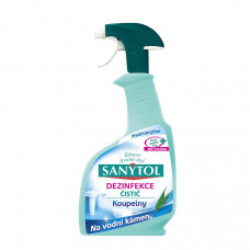 SANYTOL dezinfekčný čistič na kúpeľne a vodný kameň, 500 ml