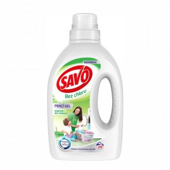 SAVO Universal bez chlóru prací gél na farebné i biele prádlo, 1 l