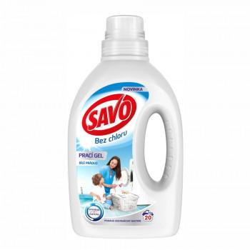 SAVO White bez chlóru prací gél na biele prádlo, 1 l