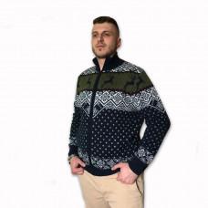 Vlnený sveter NORD zips