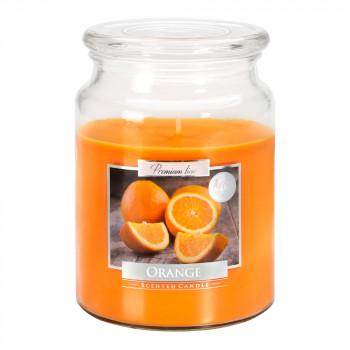 Vonná sviečka v skle s viekom ORANGE 500 g