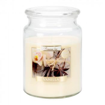Vonná sviečka v skle s viekom VANILLA 500 g